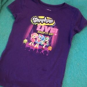 Shopkins purple tshirt designs on front and back!